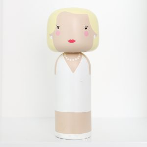 Kokeshi trädocka – Marilyn Monroe